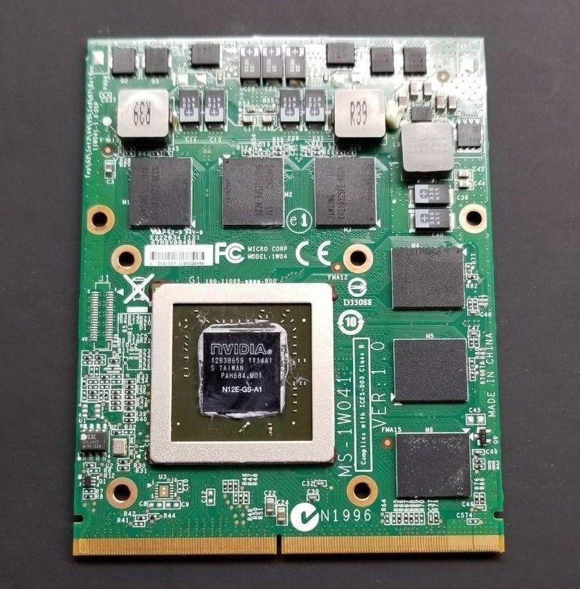 MS-1W041 N12E-GS-A1 GTX 560M DDR5 wideo karta VGA dla MSI GT70 GT60 GX660R GT660 MS-16F4 MS-1763 100% TESED OK