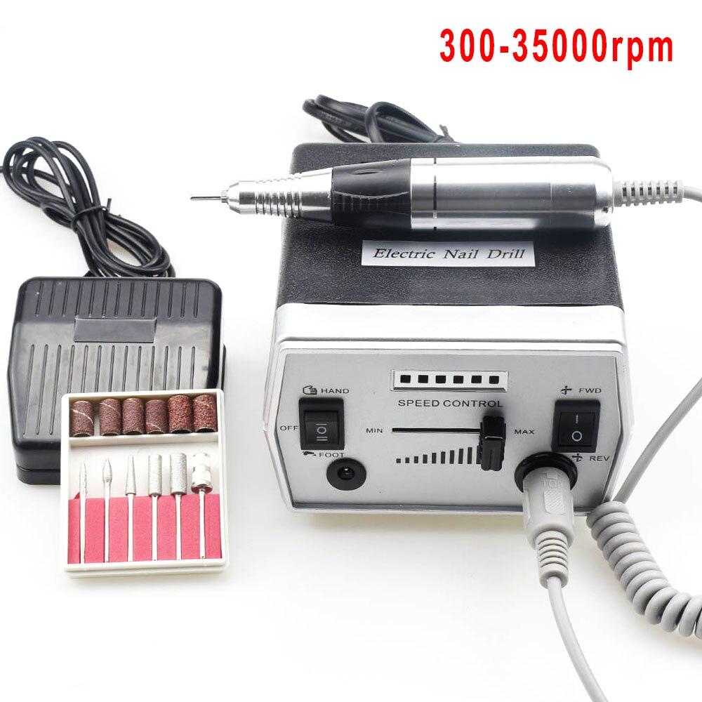 300-35000RPM taladro eléctrico de uñas juego de máquina de manicura para máquina de pedicura uña taladro Lima equipo herramientas de manicura
