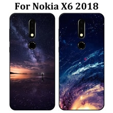 For Nokia X6 2018 Case Starry sky Soft Back Cover NokiaX6 2018 Phone Case For Nokia X 6 cover Case For Nokia TA-1099 shell coque