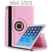 Pour coque iPad Mini 360 degrés rotatif Flip PU housse en cuir pour iPad Mini 2 3 Stand étuis Smart tablette couverture sommeil réveil