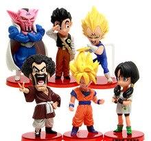 6pcs Dragon Ball Z Dabura Son Gohan Videl Action Figure PVC Collection figures toys for christmas gift brinquedos ToyO00002DB