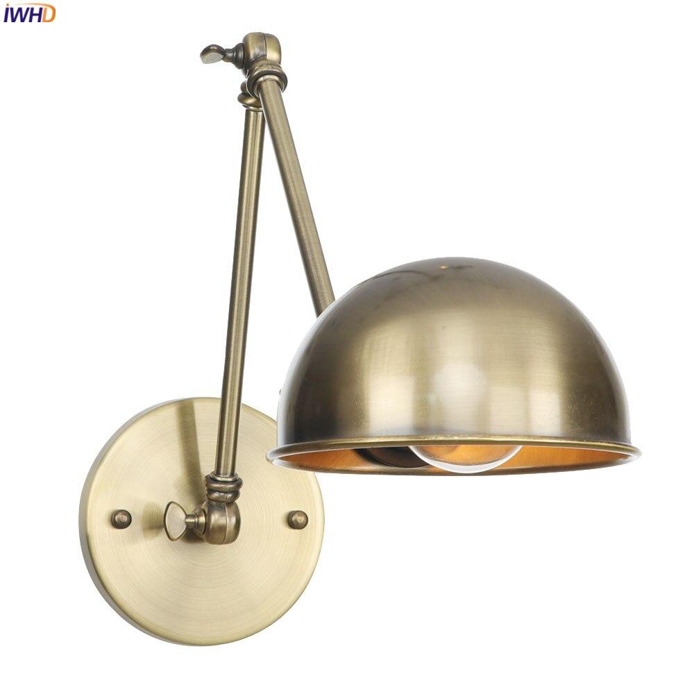 IWHD-مصباح جداري LED عتيق بذراع طويل ، طراز علوي ، تركيبات إضاءة ، للحمام وغرفة النوم