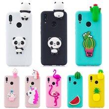 Funda 3D de silicona para teléfono con diseño de Panda unicornio y Cactus para Huawei Honor 10 Lite 10i/P Smart 2019/P Smart Z, funda para mujeres y niños