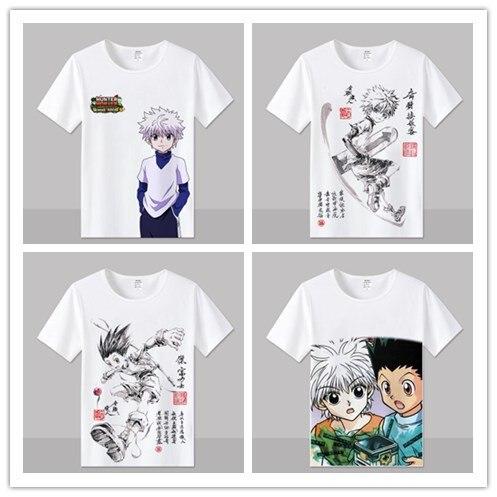 Camiseta Hunter X Hunter de diseño para hombres y mujeres, camiseta de Cosplay GON FREECSS, camiseta de Anime nuevo Kurapika, camisetas de moda Killua Zoldyck