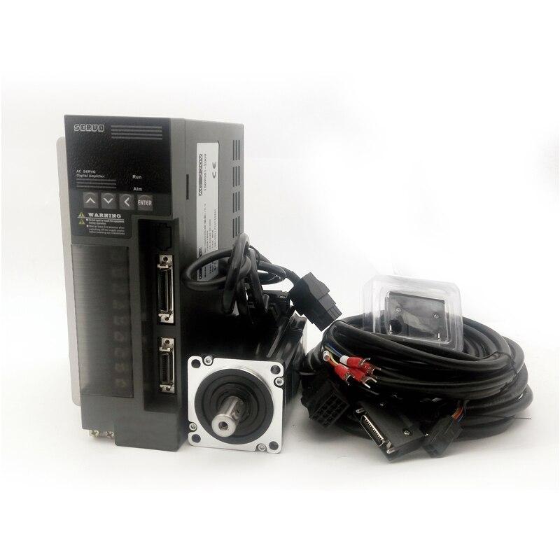 High quality AC servo motor 60ST-M01330 400W 3000RPM 1.27Nm and matched servo driver JB-1000C30L with 5m cable