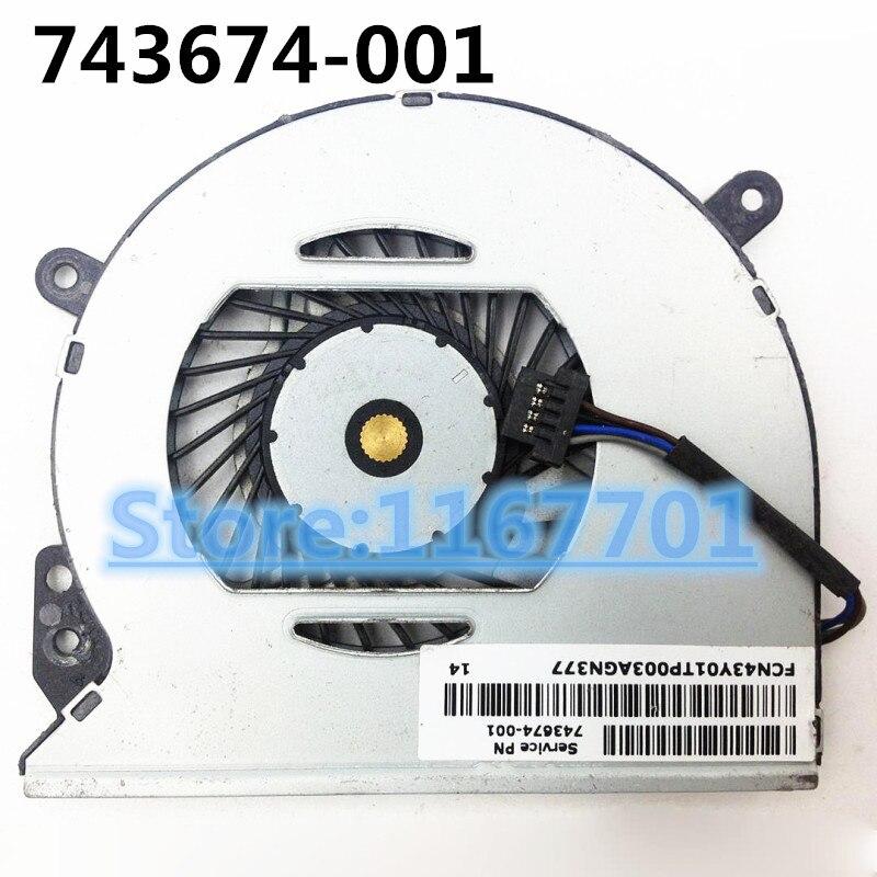 La computadora portátil/portátil enfriador de CPU ventilador de refrigeración para HP Chromebook 14-Q 14-Q010DX 14-Q039WM DFS501105PR0T-FFQU 743674-001 NFB70A05H