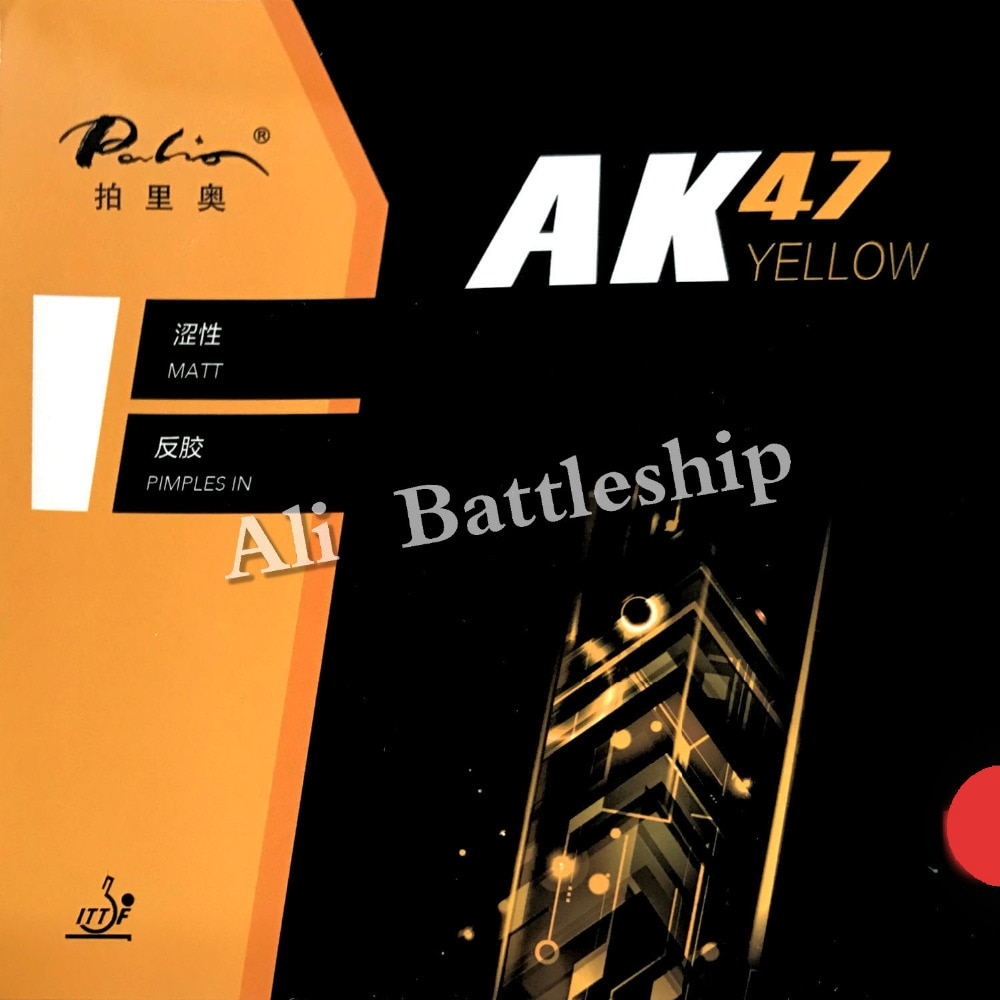 Original Palio 40+ table tennis rubber AK 47 AK47 HK1997 gold colorful sponge table tennis rackets sports pingpong rubber