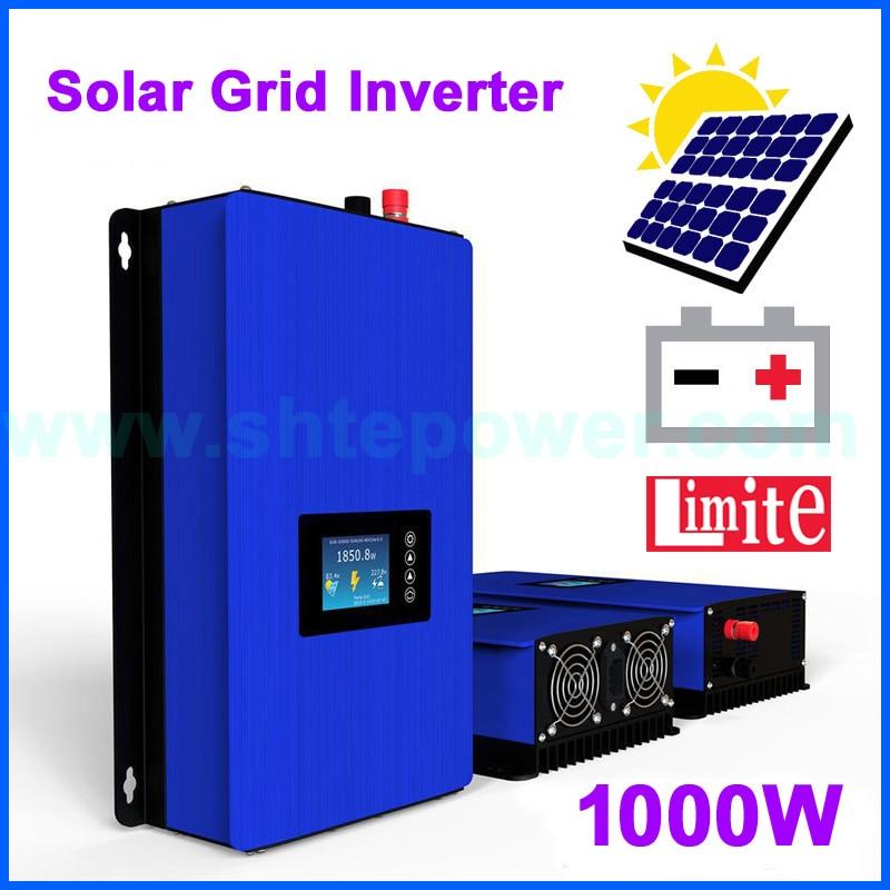 1000 Вт Режим разрядки батареи/MPPT солнечный Grid-Tie инвертор с датчиком ограничителя DC22-65V/45-90 В переменного тока 110 в 120 в 220 в 230 в 240 В