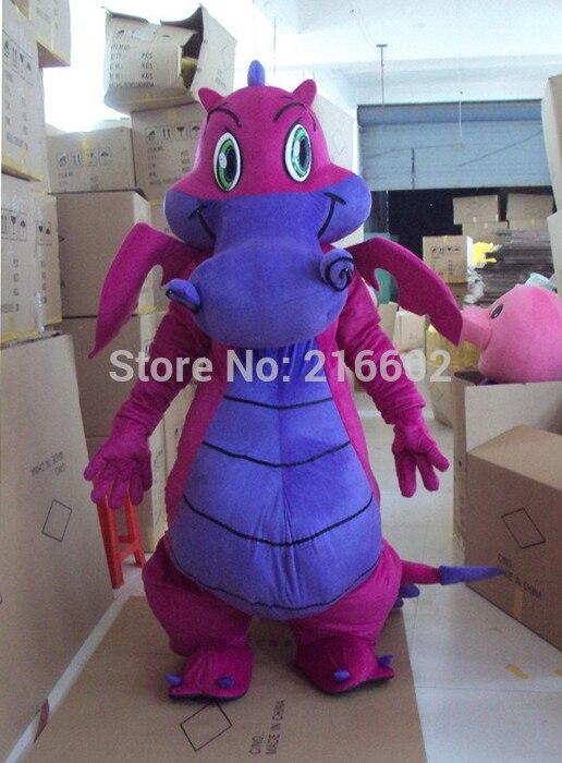 Nuevo disfraz profesional de Mascota de dragón púrpura grande, vestido elegante de tamaño adulto para disfraces de fiesta de Halloween