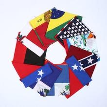 22X22 بوصة القطن USA العلم عصابات كاوبوي باندانا وشاح حفلات عقال مناديل الهيب هوب الرقص 12 قطعة/الوحدة