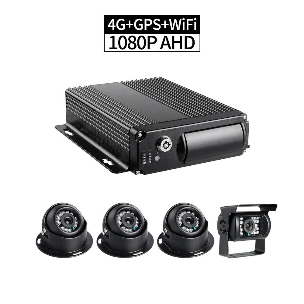 4CH 4G AHD 1080P sd-карта автомобильный Мобильный DVR комплект рекордер в реальном времени ПК/телефон удаленный монитор воспроизведение GPS Запись g-с...