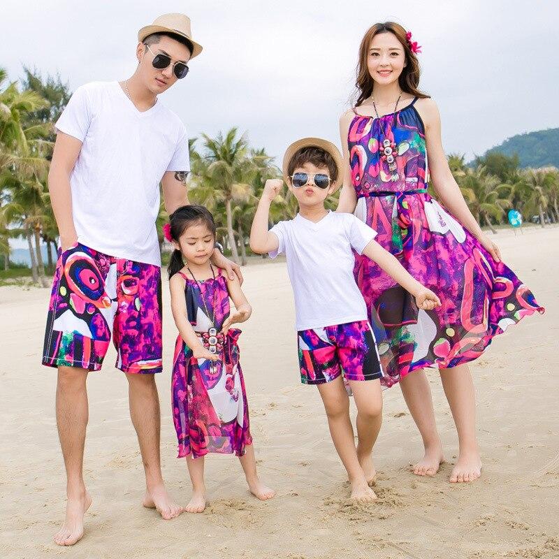 Vestidos de Niñas Ropa familiar camisetas que combinan con la familia vestidos de madre Mamá e hija ropa de bebés de mamá trajes de hijo