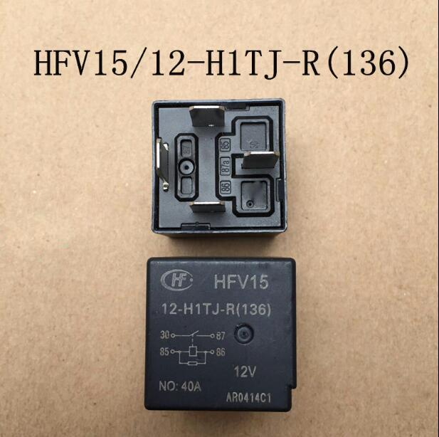 Relé de HFV15 12V-H1TJ-R HFV15-12V-H1TJ-R 12 V 40A 4PIN