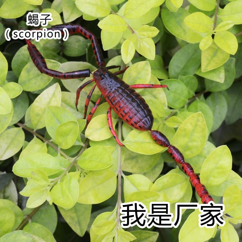 50 pces um lote material de argila da arte popular inseto artificial modelo artesanato
