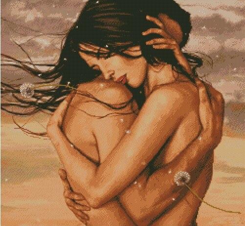 Needlework 14CT 16CT 18CT Ponto Cruz, DIY Contagem de Ponto de Cruz, Bordado Conjunto, abraçou A Felicidade
