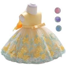 Robe dété pour bébés filles   Motif floral, pour enfants de 0 à 6 ans, vêtements pour fête danniversaire