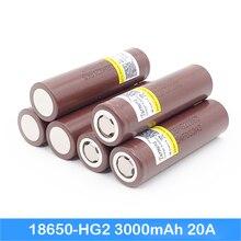 Bateria 18650 hg2 3000 mah 20a mod baterie guzikowe dla wkrętaki Turmera 18650 baterii jun5