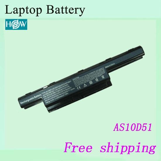 AS10D31 AS10D3E AS10D41 AS10D51 AS10D61 AS10D71 AS10G3E batería del ordenador portátil para Acer 4741G