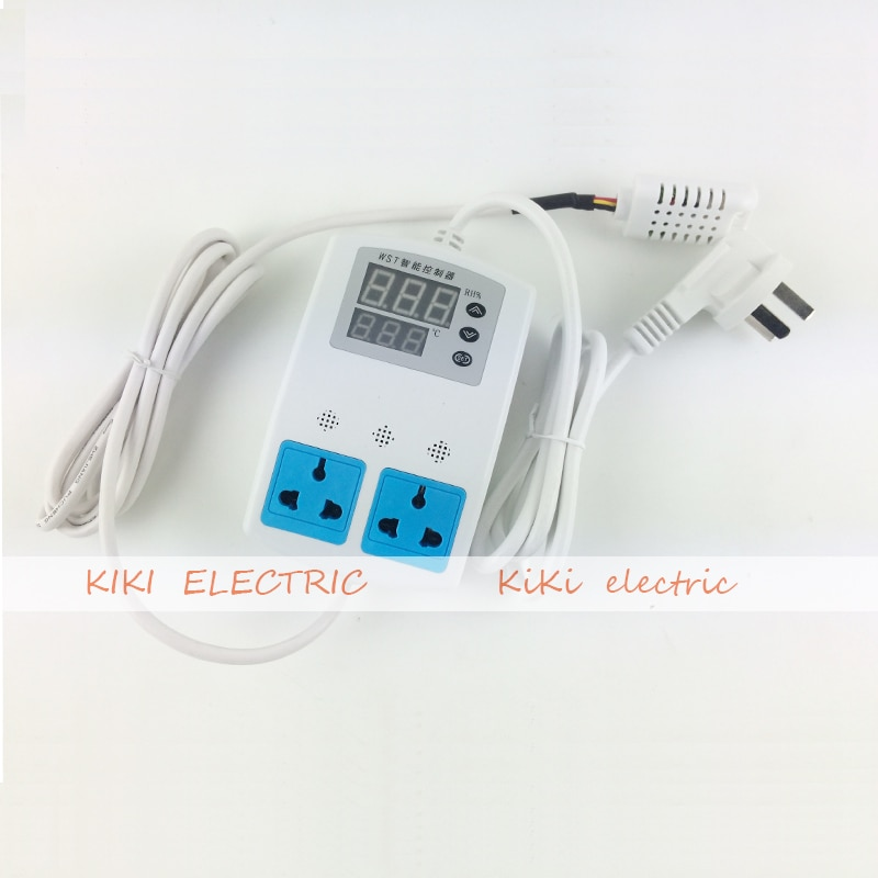 climb box 2 output Temperature and Humidity Controller room/ greenhous humidification and thermal control Switch with 2 socket