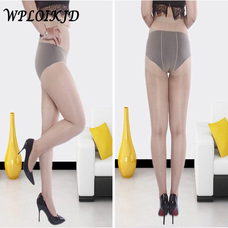 [WPLOIKJD] Sommer Strumpfhosen Sexy Ultra-Dünne Frauen Superelastizität Fett Großen Größe Strümpfe Strumpfhosen Frauen Anti-Haken draht