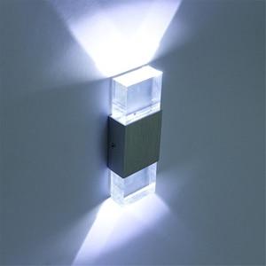 2Set/lot Modern 4W led Wall Bathroom Light High Quality Aluminum Case Acrylic Crystal Wall Lamp Bedroom Living Room House wall