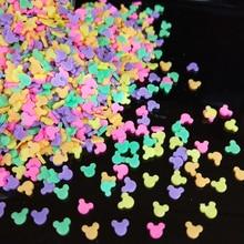 Argile polymère chaude molle 20g/lot   Pour souris, saupoudrez les paillettes, Animal coloré, petits objets en plastique, klei particules de boue multicouleurs