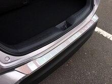 2016, 2017, 2018 para Toyota C-HR posterior tronco Boot exterior parachoques guardia placa de umbral protector de acero inoxidable 1 pieza