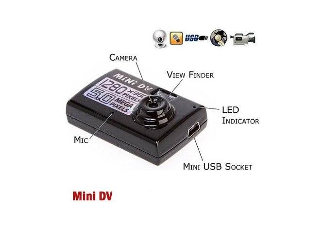 Tarjeta de 8 GB + Mini DV DVR cámara de vídeo Digital de alta definición Mini bolsillo DV