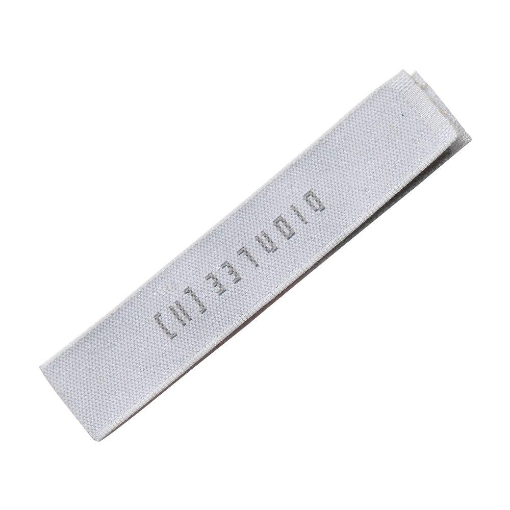 Logotipo personalizado etiqueta com o nome com o hal dobra para roupas etiquetas tecidas para lenços personalizados etiquetas de cuidados de biquínis com dobra central