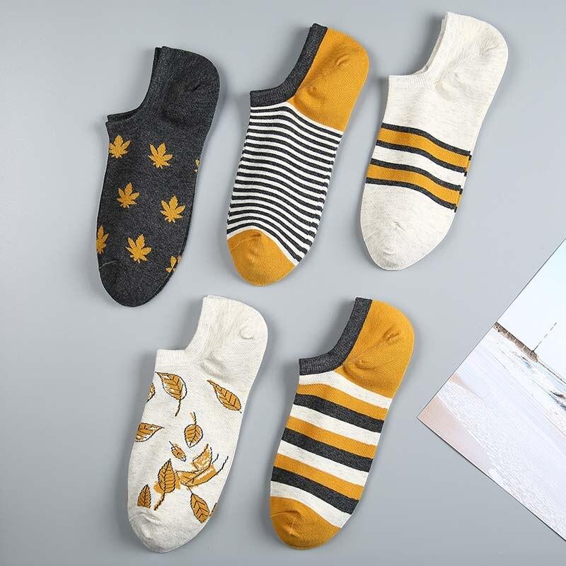 5 par/lote calcetines de las mujeres de impresión de la calle Harajuku estilo de algodón calcetines cortos para mujer Casual divertida tobillo calcetines Medias Verano de 2019