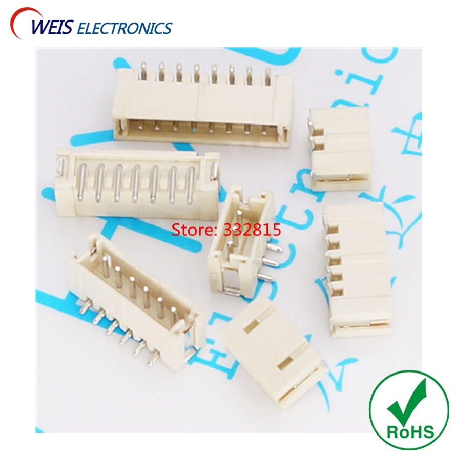 100 PCS ZH1.5 ZH1.5mm ZH conector 1.5mm pitch DIP sockets feminino 90 graus 2 P 3 P 4 P 5 P 6 P 7 P 8 P ROHS Livre grátis