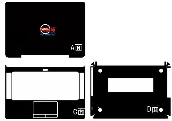 Portátil de fibra de carbono adesivos de pele de vinil capa guarda para dell xps 14z l412z 14-inch