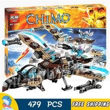 479 pièces ciel Scavenger combat combattant Phoenix flamme Flyer 10353 Figure blocs de construction jouets compatibles avec lagunage
