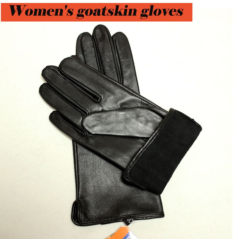 Goatskin gloves women's thin section sheepskin touch screen unlined single-layer riding driving leather gloves free shipping man s real leather gloves thin spring autumn driving sheepskin gloves male unlined fashion simple free shipping te0625a