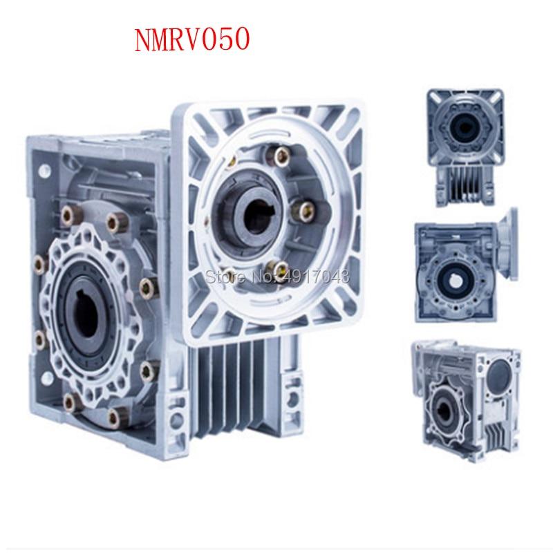 5: 1-100: 1 دودة المخفض NMRV050 19 مللي متر المدخلات رمح rv050 دودة والعتاد المخفض جهاز تخفيض السرعة ل NEMA 42 32 سيرفو خطوة المحرك المحرك