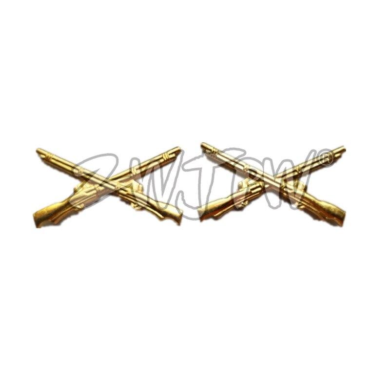 Exército chinês Flor Colar Acessórios Uniforme Militar Badge Insignia Medalha de Ouro CN/402111