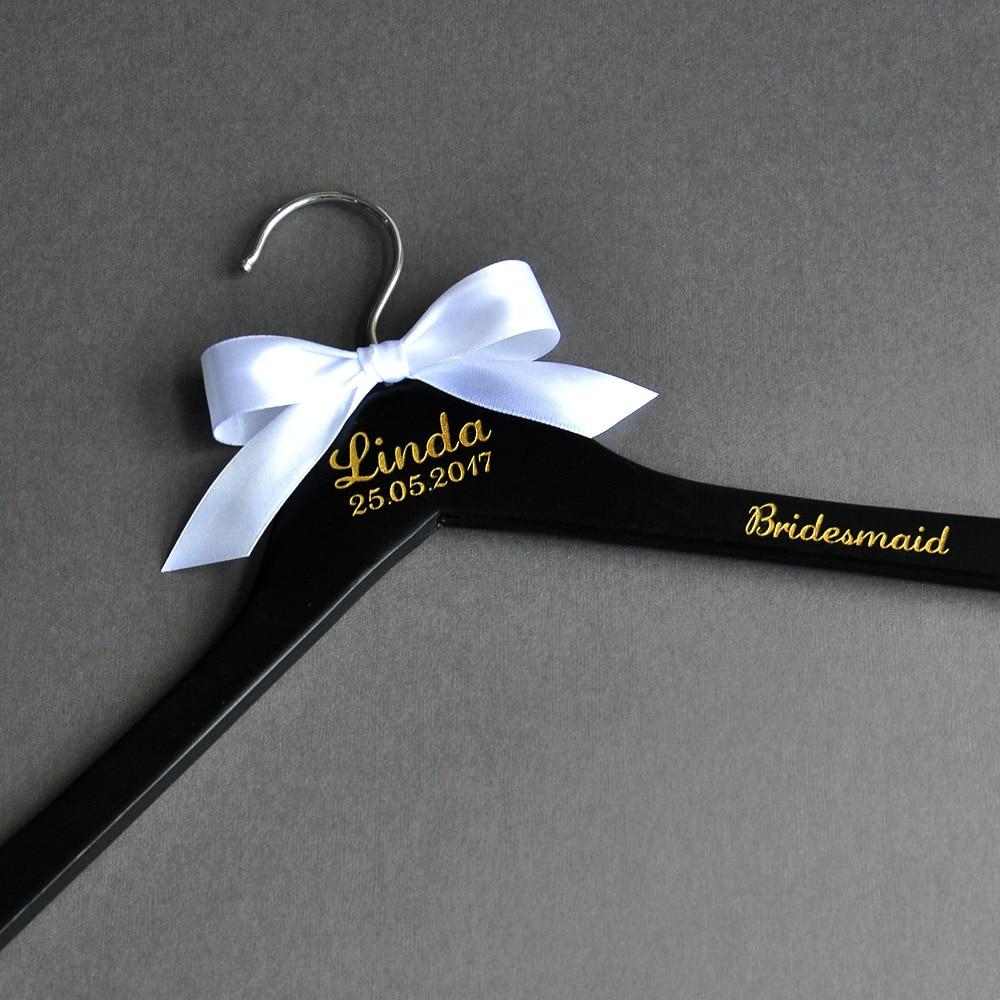 Percha de boda personalizada, percha de madera con nombre personalizado, percha para vestido de novia, decoración de boda, regalos de Ducha