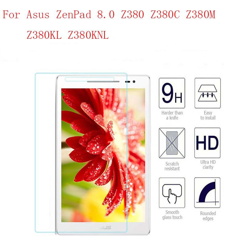 9H Tempered Glass for Asus ZenPad 8.0 Z380 Z380C Z380M Z380KL Screen Protector 8 inch Tablet Protective Glass Film Guard Premium 9h tempered glass for asus zenpad 8 0 z380 z380c z380m z380kl screen protector 8 inch tablet protective glass film guard premium