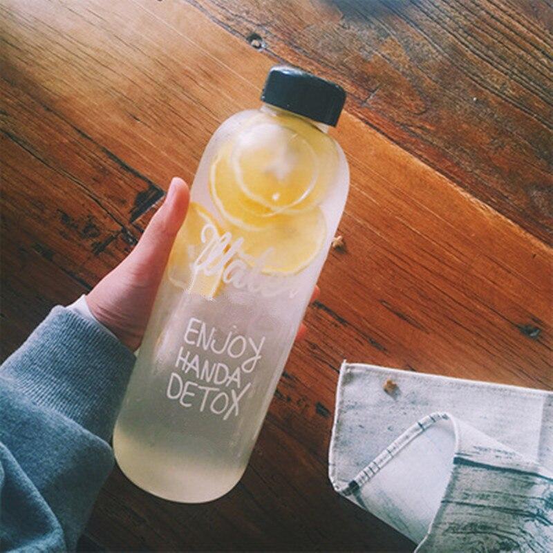 Botella de agua de plástico transparente portátil con Infusor de zumo de limón y fruta deportiva de gran capacidad de 1000ml/600ml