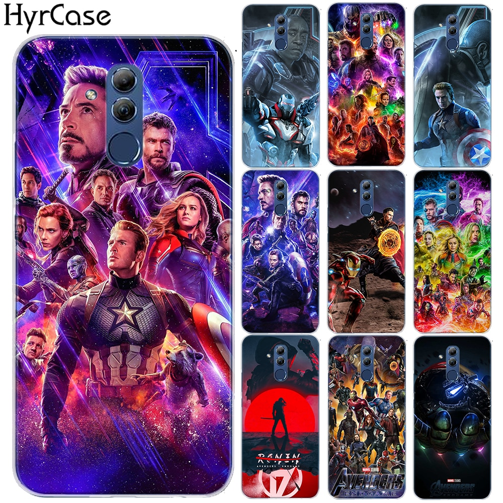 Super Heros Avengers 4 Endgame Soft TPU Case Cover For Huawei Mate 10 20 Lite Pro Honor 9 10 Lite 8X 8C 7A NOVA 3 3I 4 Y6 2018