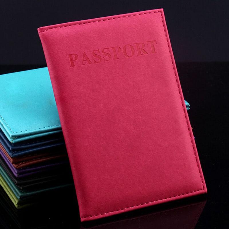1 pieza mujer hombre Faux cuero tarjetero pasaporte soporte pareja modelos mujeres viaje pasaporte funda Unisex tarjeta