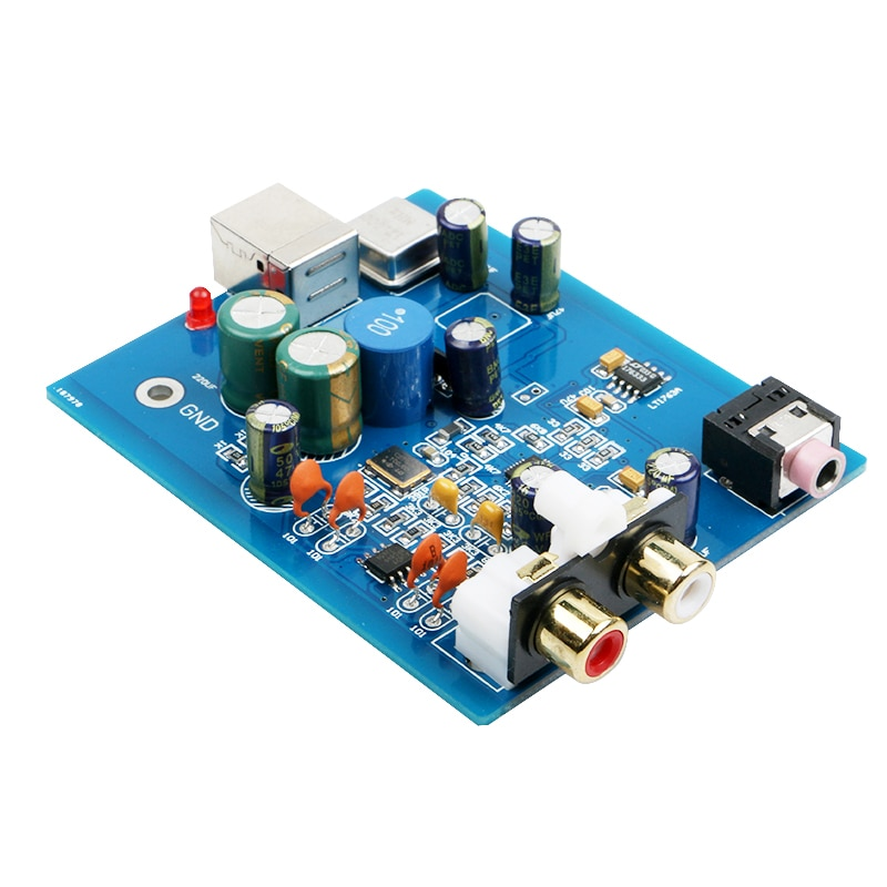 K GuSS SA9023 ES9018K2M MINI HIFI Audio DAC decodificador tablero de tarjeta de sonido apoyo 24bit 96K