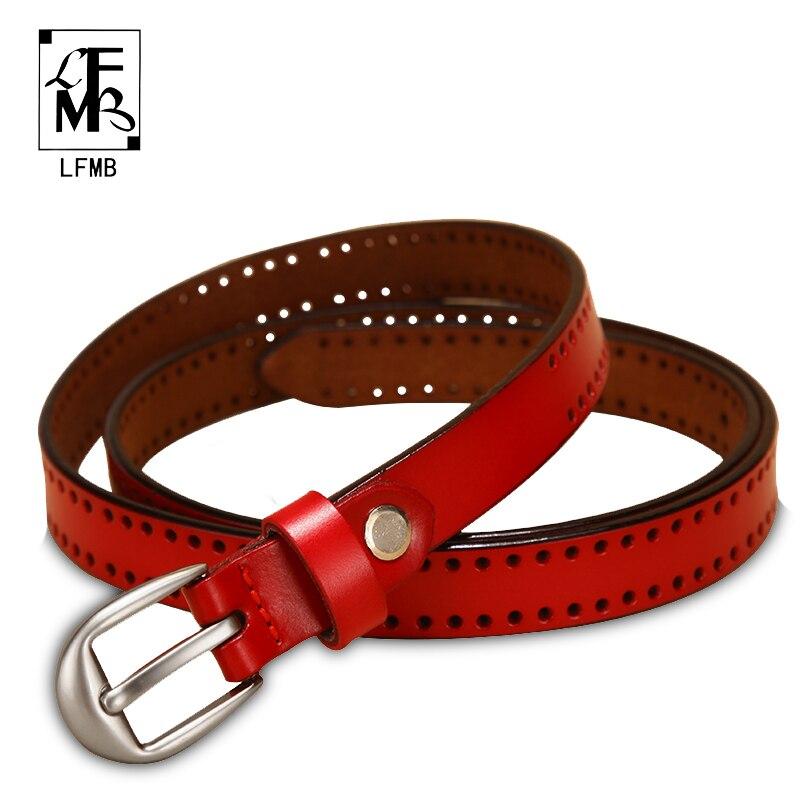 LFMB-Cinturón de cuero genuino para mujer, Cinturón de piel auténtica con correas,...