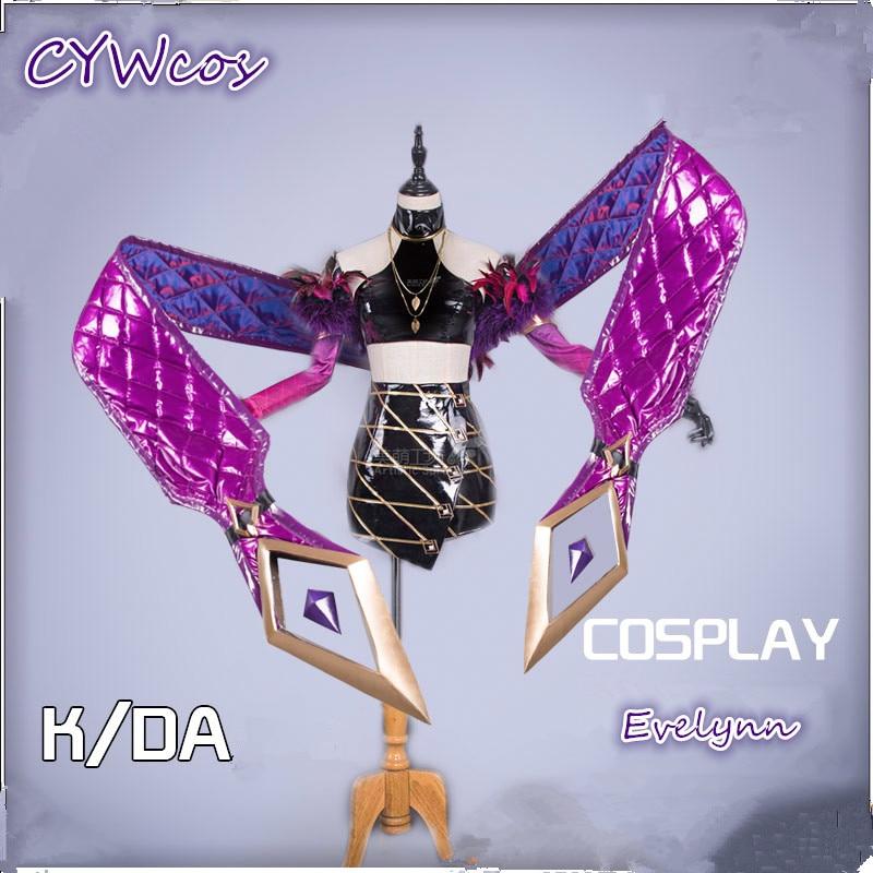 LOL K/da Agonys abrazar evelwanda KDA, disfraz Cosplay para mujer, vestidos, trajes de juegos completos