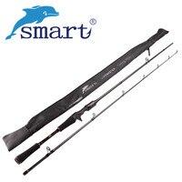Удилище для забрасывания наживки SMART 2,1 м, удочки из углеродного волокна для приманки 2 секунды, трость для рыбалки, рыболовная снасть, Vara De ...