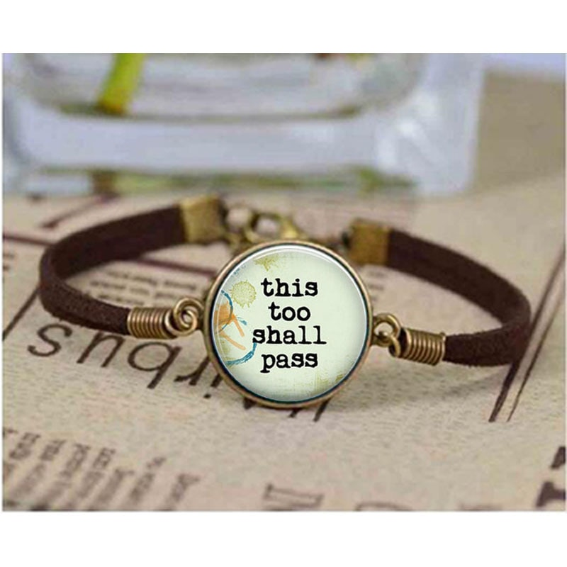 Unique bracelet This too shall pass bracelet Inspirational Quote bracelets Inspirational Jewelry Bangle