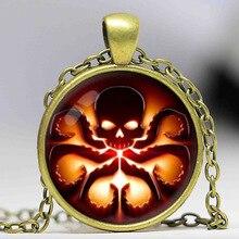 قلادة جديدة على شكل هدرا حائل تحمل شعار هيدرا مجوهرات قلادة على شكل صورة زجاجية