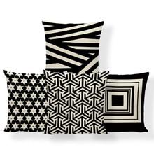 Nordic Stijl Streep Kussenhoes Geometrie Pijl Kussen Franse Land Hoofdeinde Decoraties Sierkussen Covers 17X17 Polyester