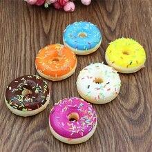 6 pièces ensemble artificiel faux pain beignets beignets Simulation modèle décoration de la maison artisanat jouet cuisine semblant jouets pour enfants