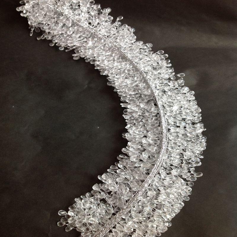 30 cm Plastic Crystal Branches Rattan Bride Bouquet DIY Accessories Artificial Flowers Vine Home Decor Wedding Decoration Craft